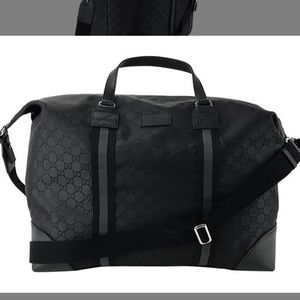 Gucci Duffle Guccissima Nylon Canvas Weekend Bag